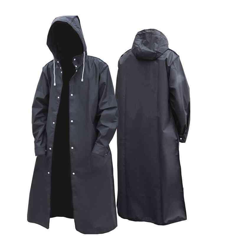 Adult Long Impermeable Rainwear - Men Women Eva Raincoat