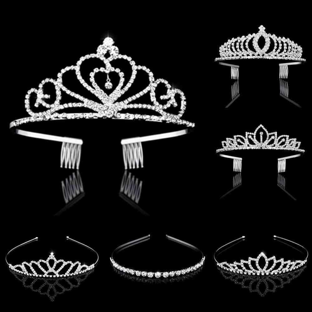 Crystal Tiaras And Crowns Headband Kid Flower & Hair Jewelry
