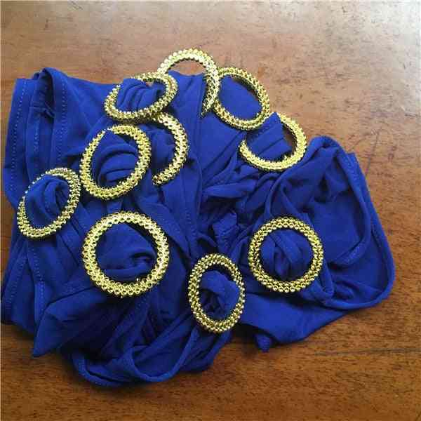 Elastic Lycra Chair Sash Bands With Gold Buckle