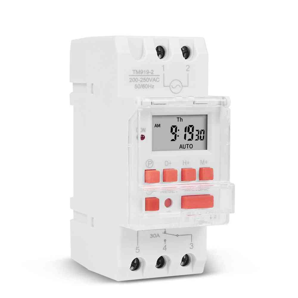 Heavy Load Digital Timer Switch For  Led Lighting Loading On/off