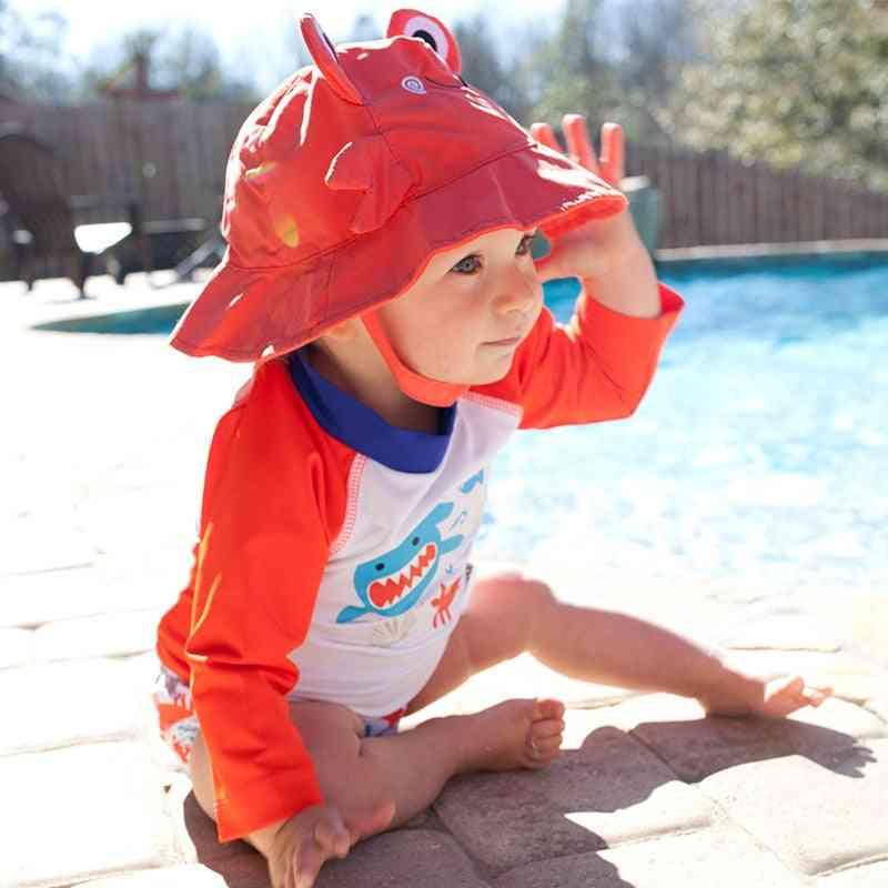 Summer Cute Baby/toddler Reusable Sun Hat & Swim Diaper Set