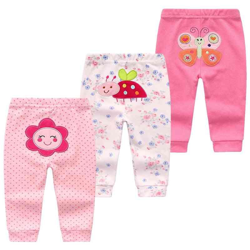 3pcs/lot Cartoon Print Baby Pants Cotton Baby Leggings Boy Girl Pants