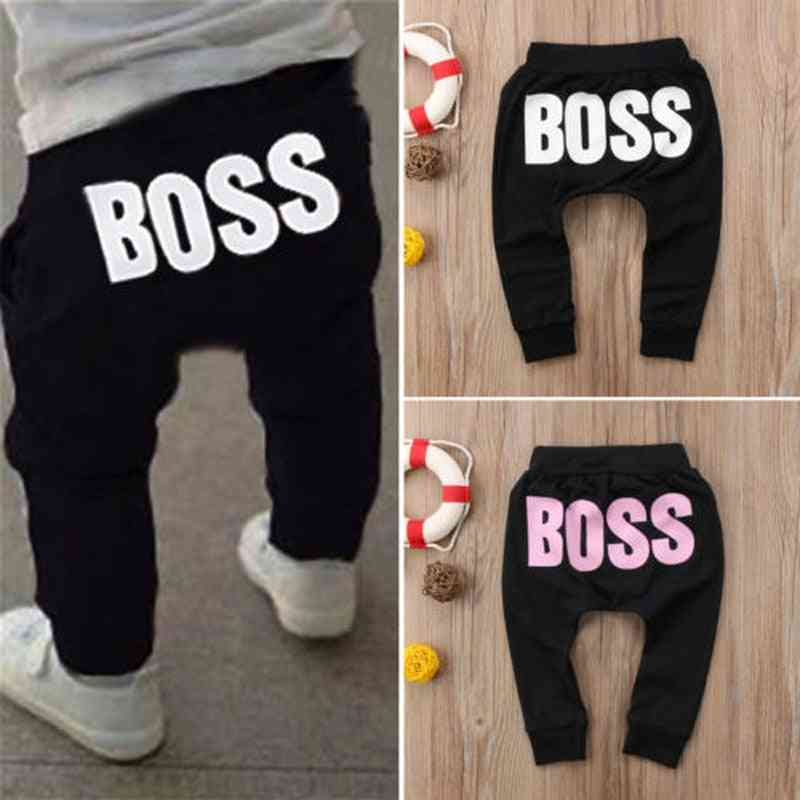 Baby Casual Harem Pants Boss Letters Printed Trouser