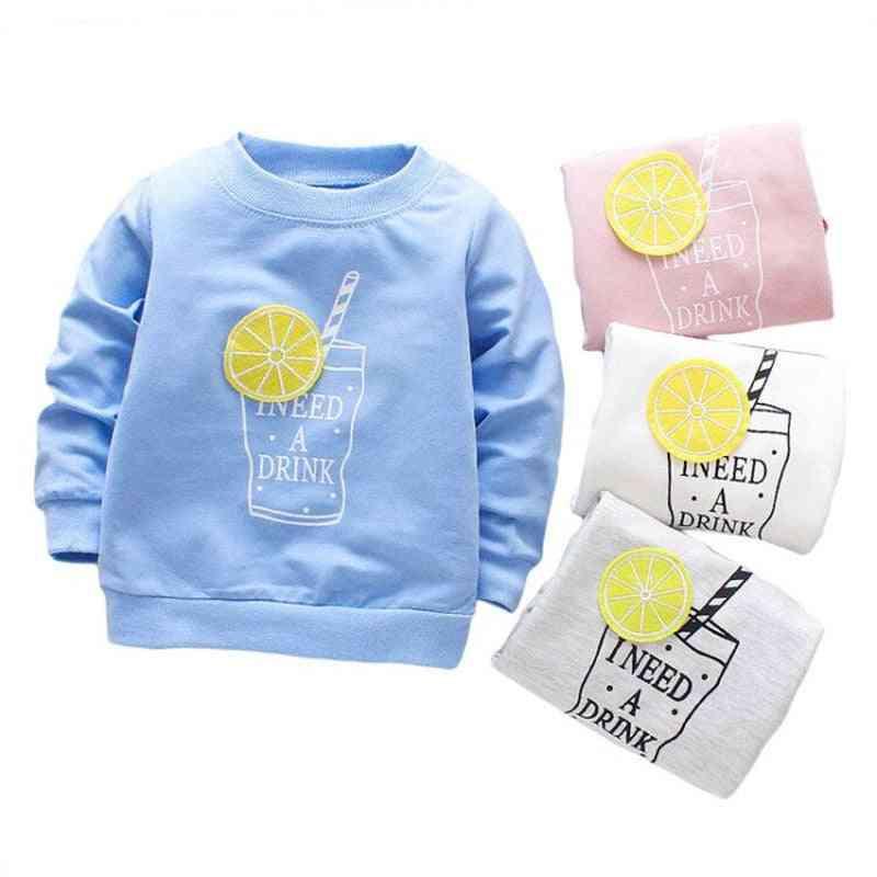 Newborn Baby Cotton T-shirt, Long Sleeves, O-neck, Top Tees