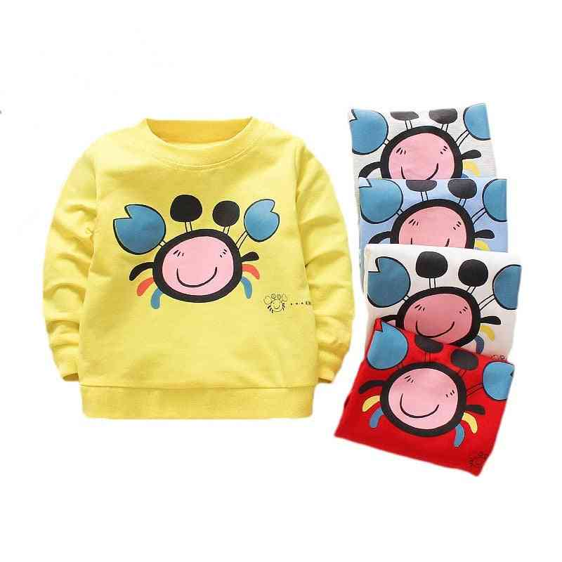 Spring/autumn Cotton T-shirt Cartoon Long Sleeves T-shirts For Baby