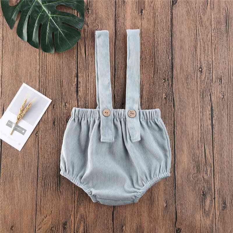 Summer Baby Cute Corduroy Suspender Rompers