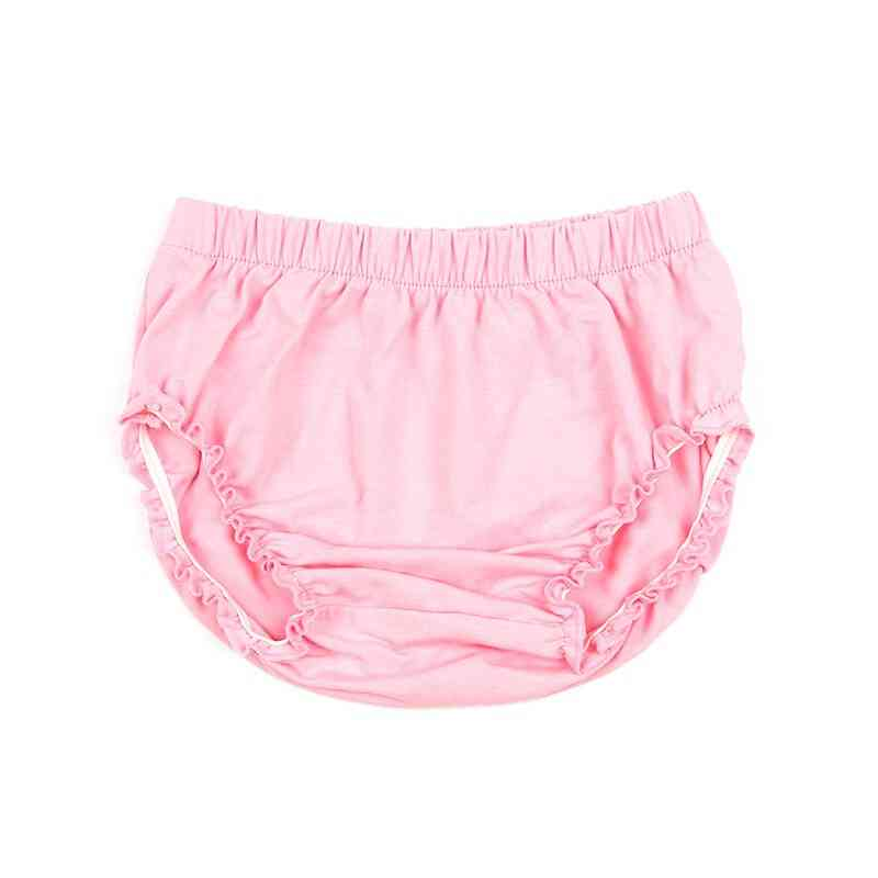 Solid Elastic Cotton Newborn Baby Bloomers Diaper Covers