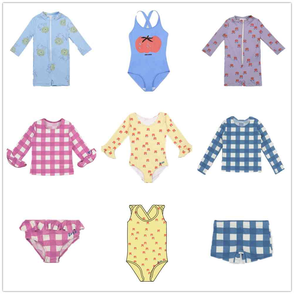 Children Summer Straps Cute Printed Swimwear Swimsuit