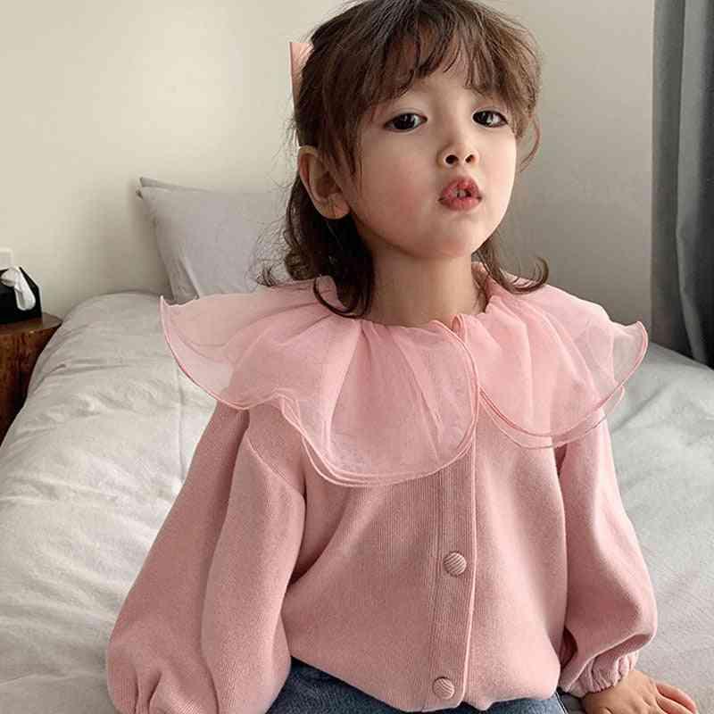 Children Top Lace Lapel Jacket