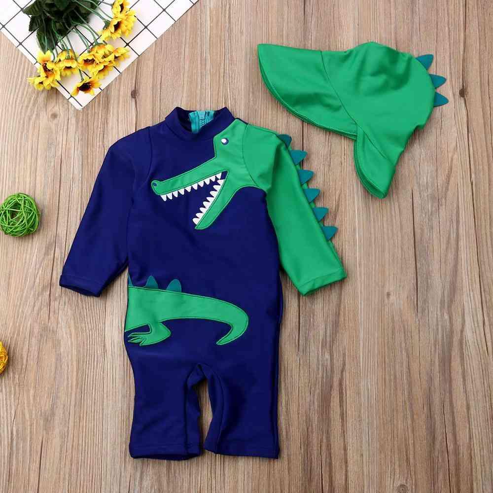 Baby Summer Beach Swimwear Sets Dinosaur Floral Print Swimsuit