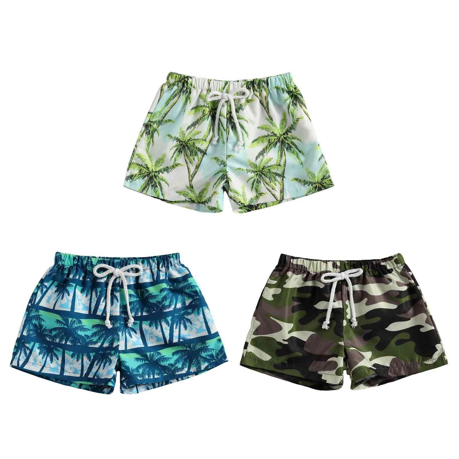 Baby Boy Swimwear Camouflage/palm Tree Print Board Shorts Beach Swimsuit