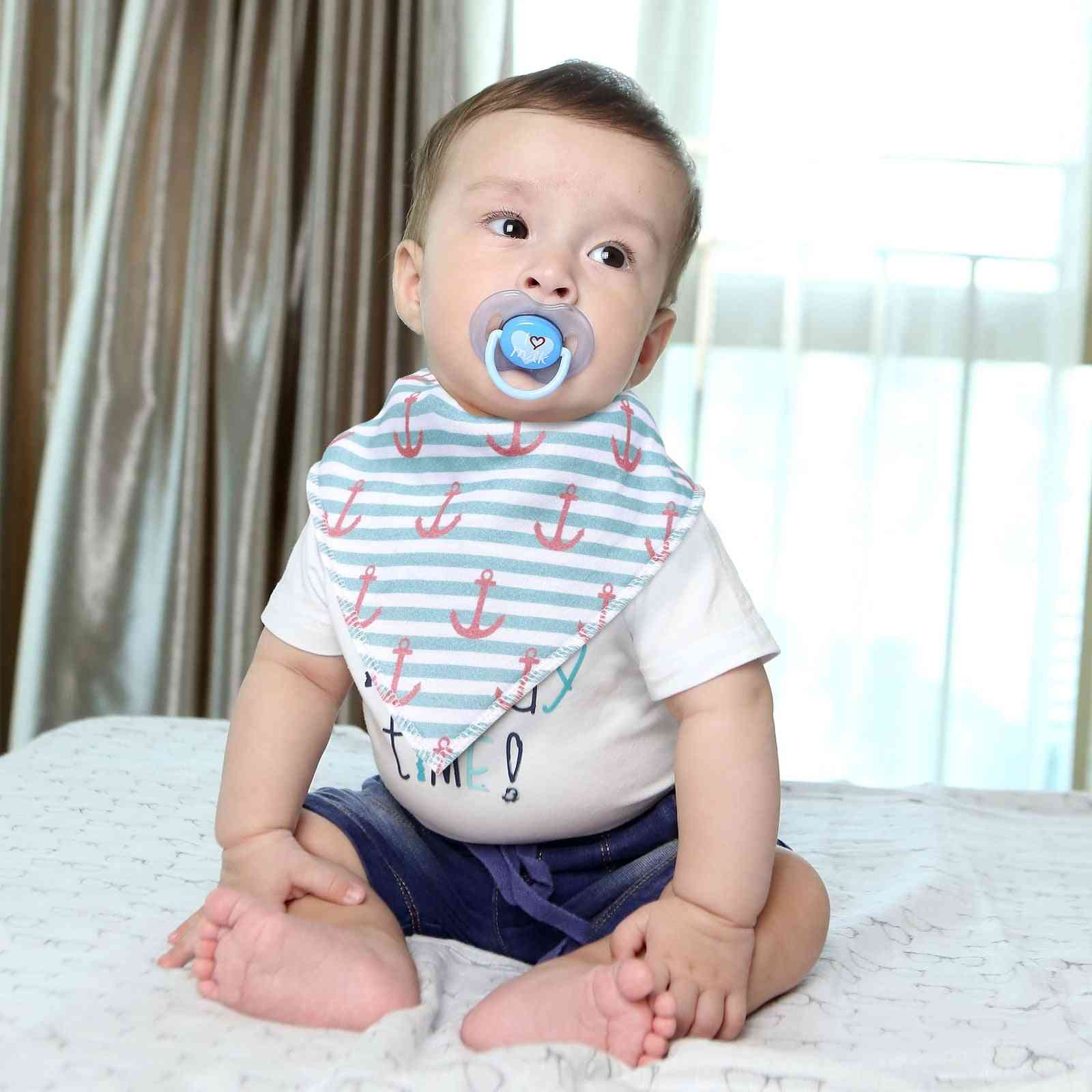 100% Organic Cotton Baby Bandana Feeding Bibs For Drooling And Teething