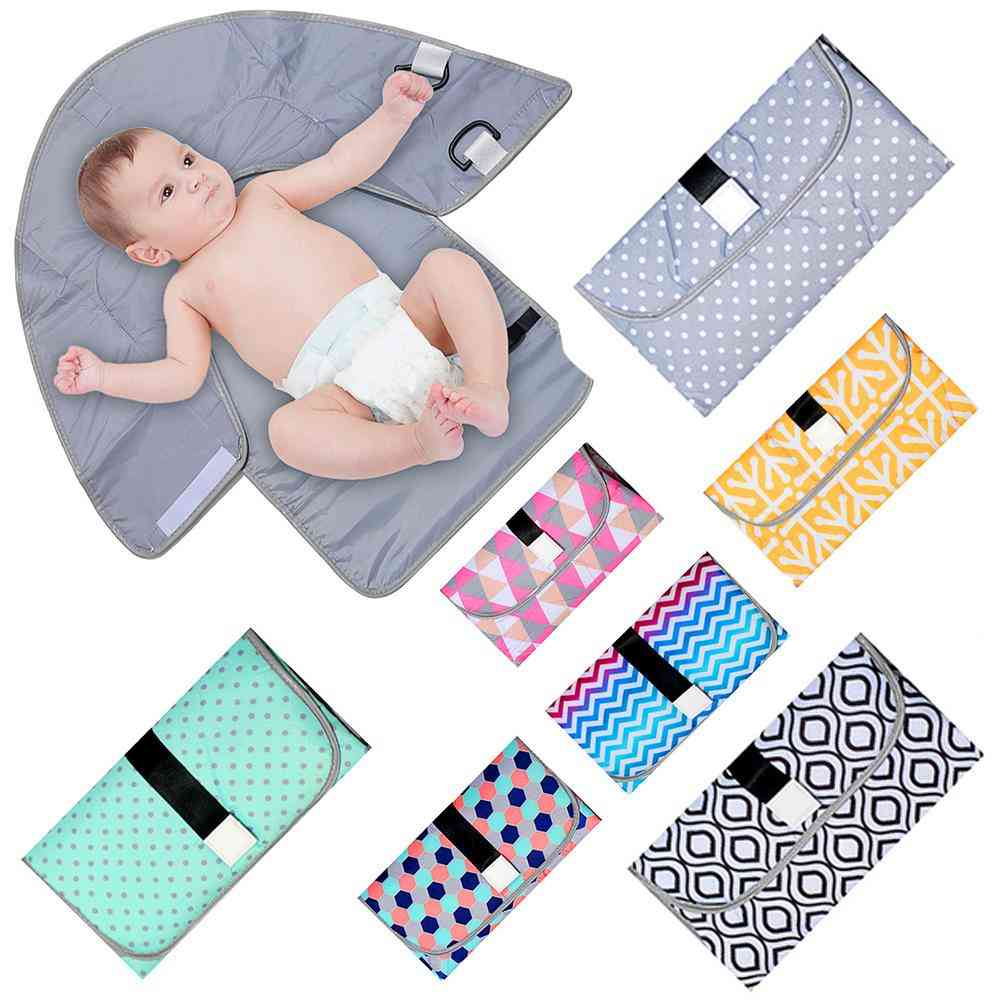 Newborn Baby Portable Diaper Changing Pad Outdoor Waterproof Diaper Changing Foldable Nappy Mat