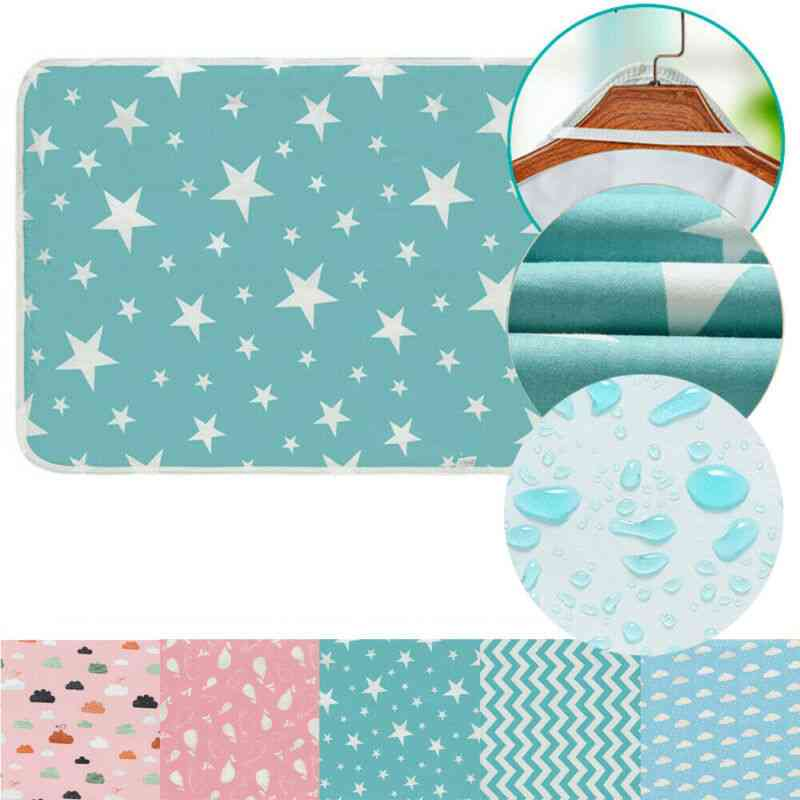Infant Baby Toddler Urine Mat Waterproof Change Cute Pad Cover Changing Home Bed Nappy Diaper