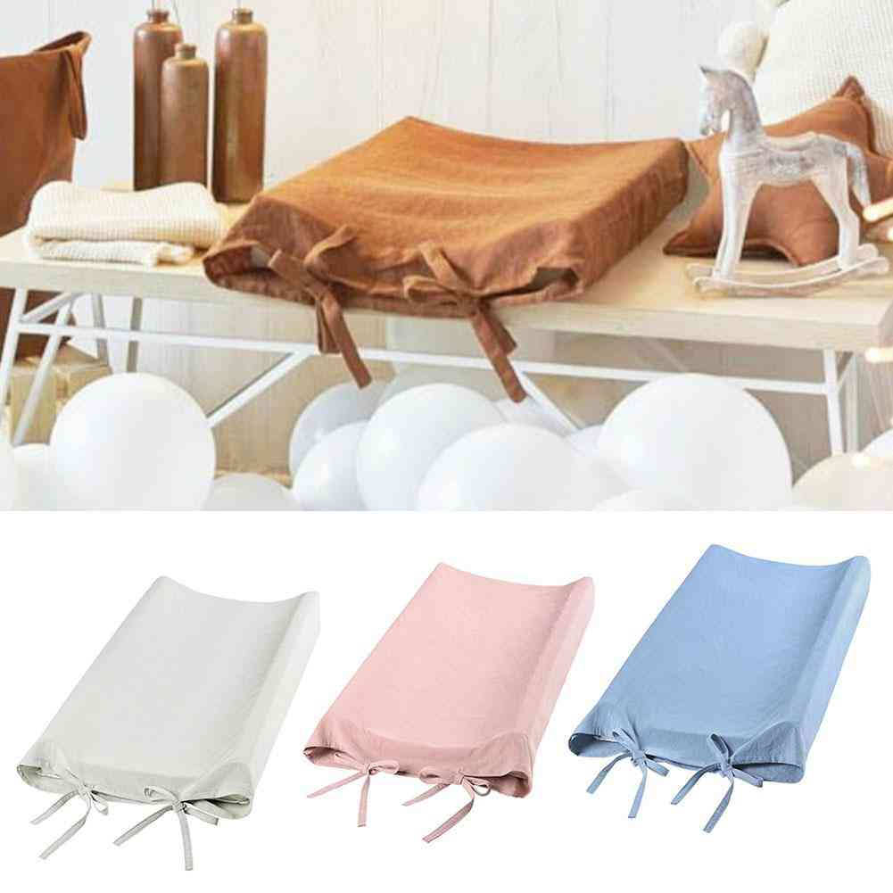 Solid Color Cotton Adjustable Newborn Comfortable Practical Convenient Safe Stylish Changing Table Pad