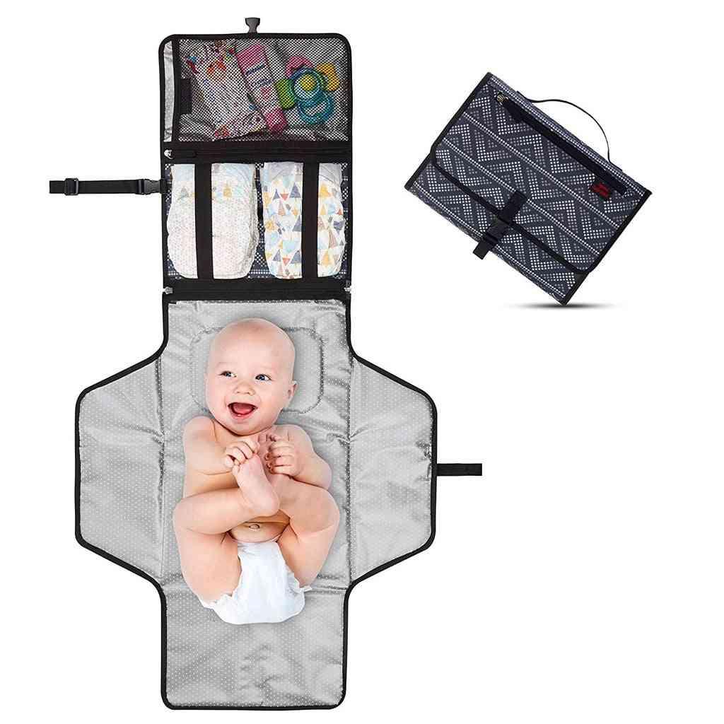 Portable Baby Diaper Changing Mat Cover Foldable Waterproof Newborn Mattress Waterproof   (a)