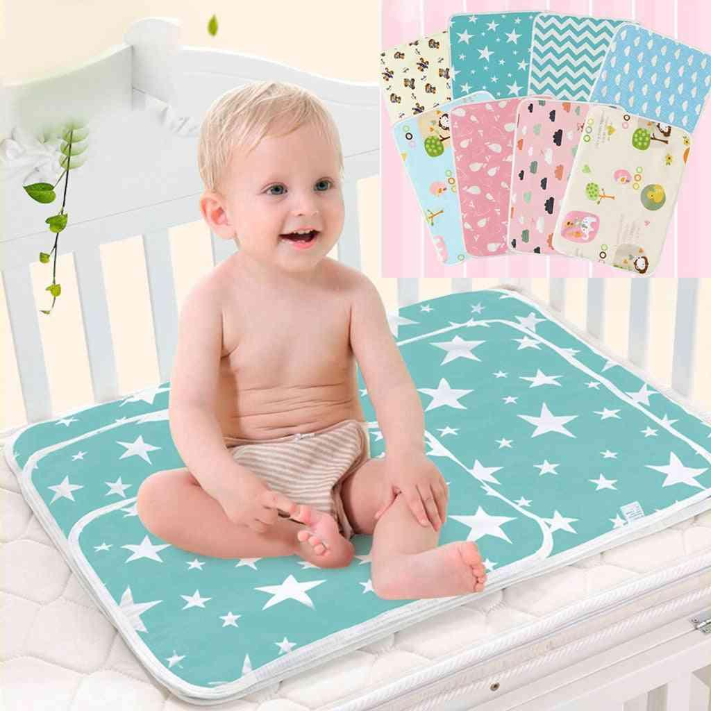 Newborn Baby Diaper Changing Cute Star Print Cotton Blend Mattress Travel Reusable Waterproof Mats