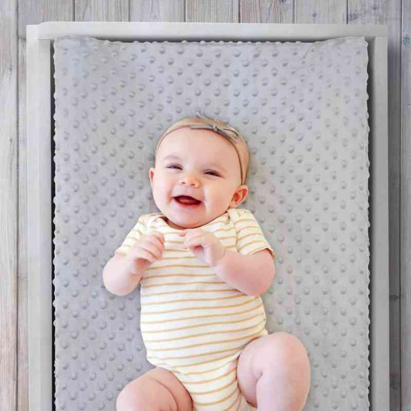Baby Changing Station Cover Touching Massage Table Super Soft Bubble Removable