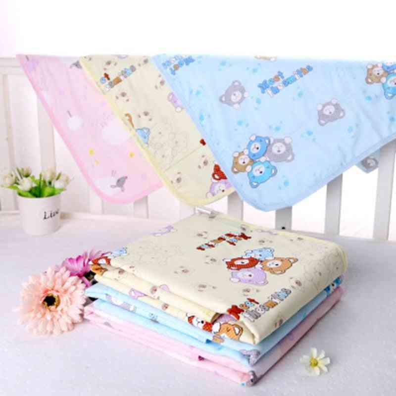 Baby Waterproof Sheet Urine Changing Pads Pad Cartoon Reusable Infant Bedding Nappy Mattress Mat