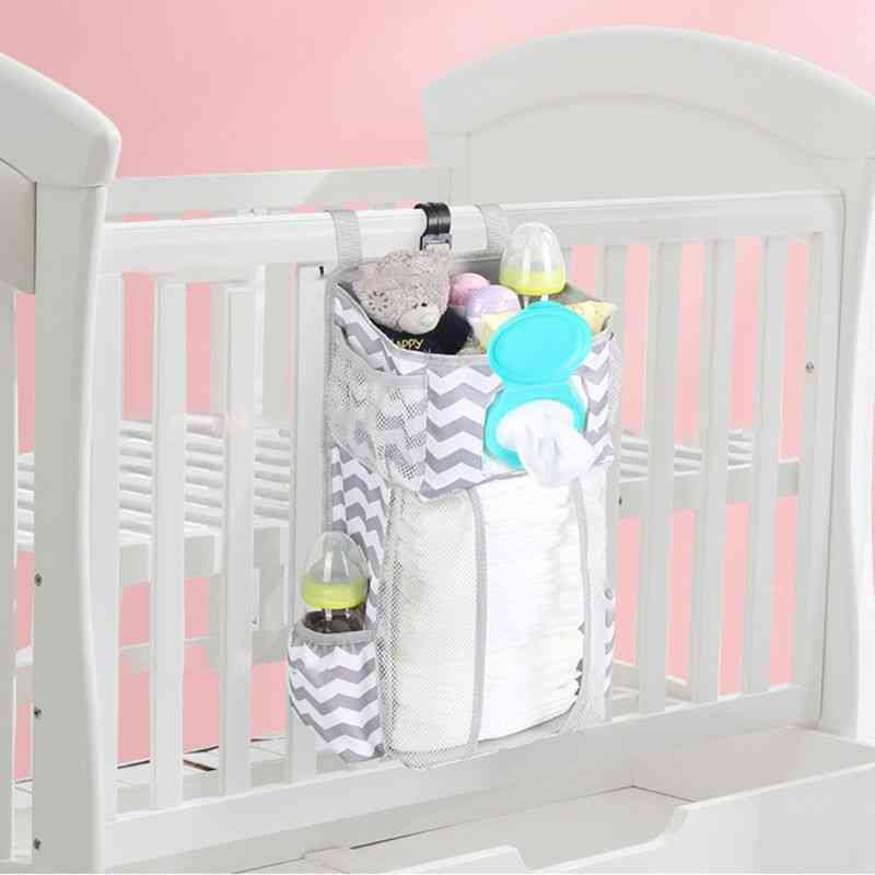 Diaper Stacker Organizer, Hanging Storage Bags For Crib Or Wall, Baby Shower