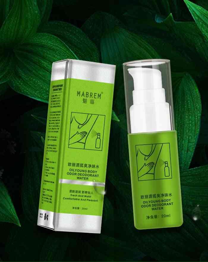20ml- Summer Antiperspirant Spray For Underarm Sweat, Clean Body, Odor Deodorant Water(green)