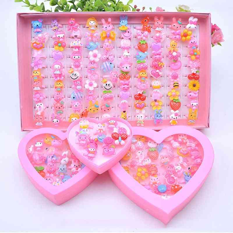 Kids Girl Makeup Jewelry Rings Toy