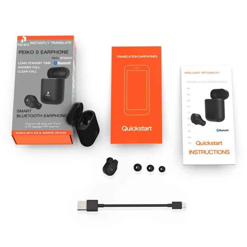 Instantly Translate Wireless Smart Voice Translator  (black)