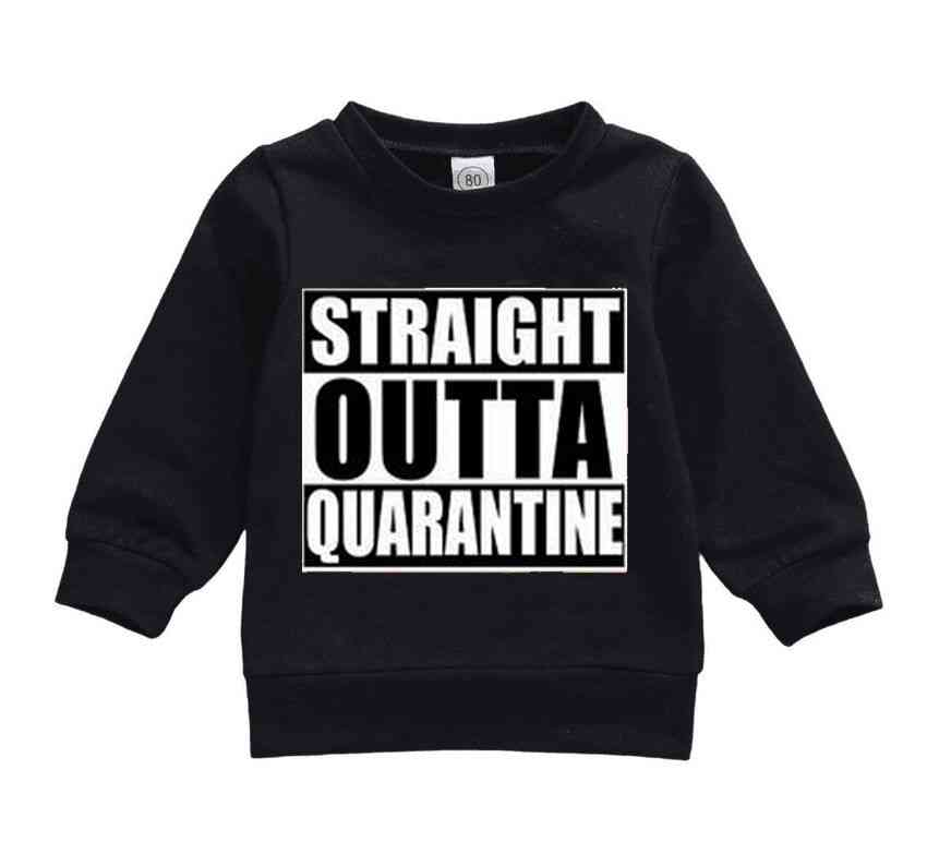 Baby Letter Print Cotton Hoodies Tops Long Sleeve Pullover Sweatshirts Clothes