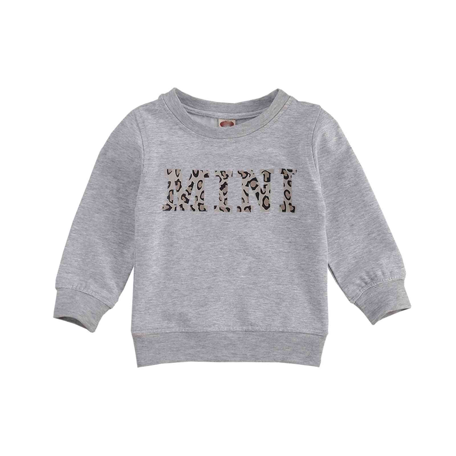 Baby Fashion Pullover Long Sleeve Cotton Letter Print O-neck T-shirt
