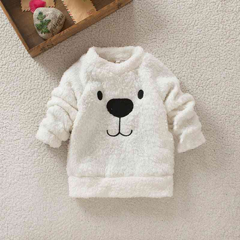 Children Warm Fur Fleece Coat Baby Girl Boy Plush Jacket
