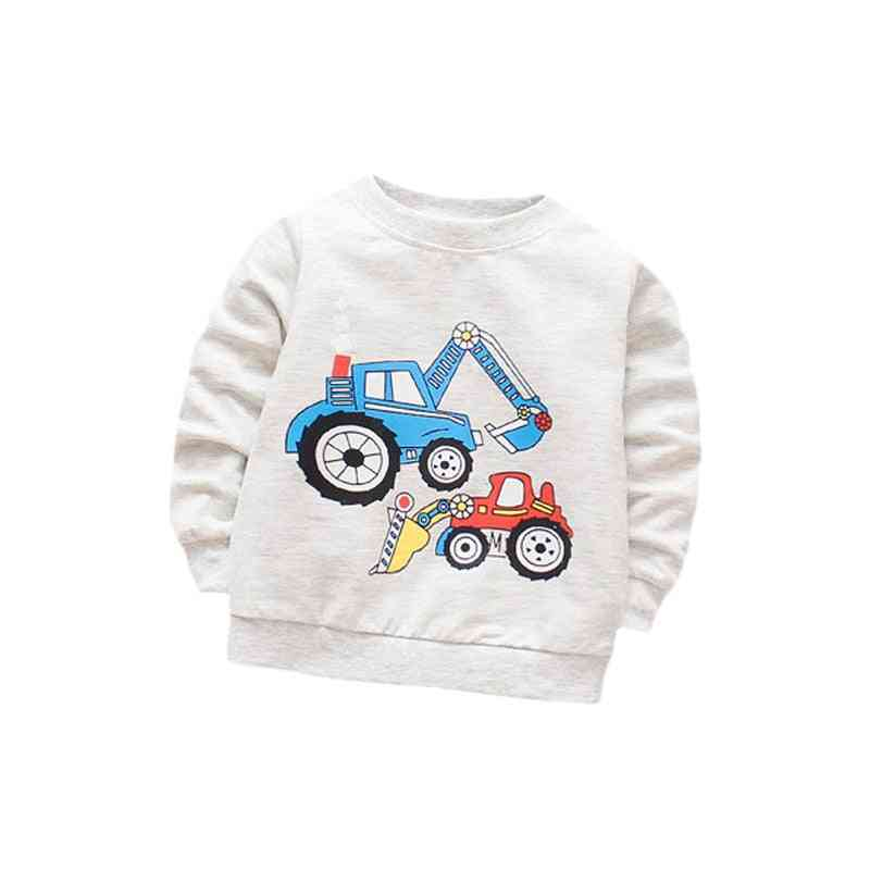 Cotton T-shirt With Long Sleeves Cartoon T-shirts For