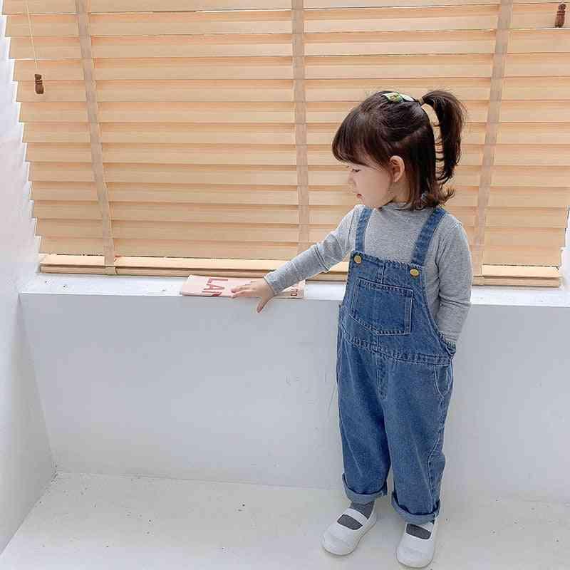 Children Overalls Denim Pant