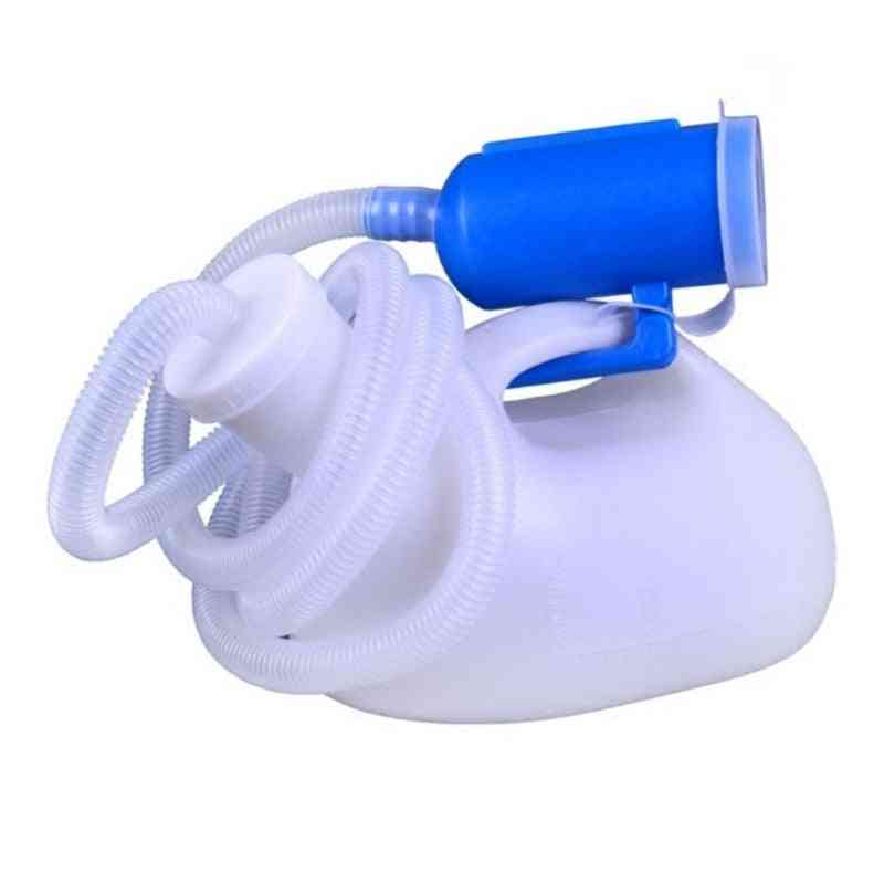 Men Reusable Pee Jug Urine Bottle Tube With Lid Thicken Potty For Hospital, Car Travel (white)