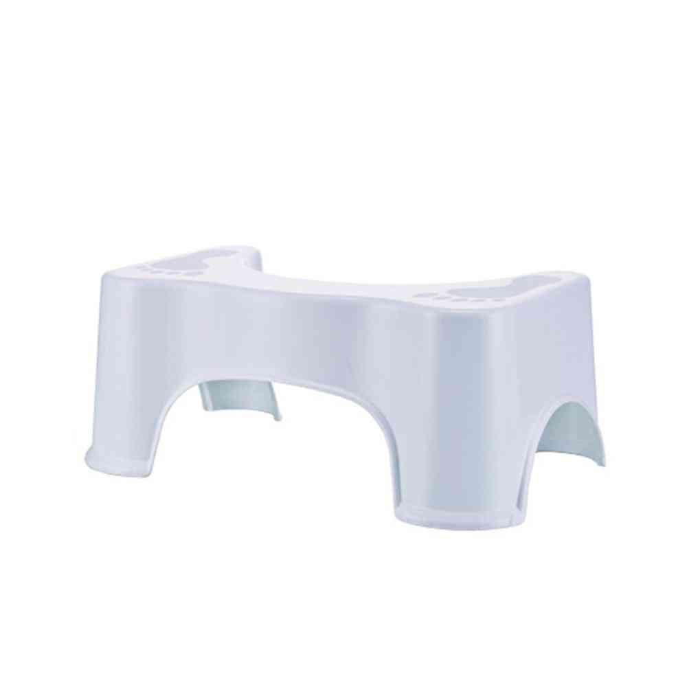 Thickened Non-slip Bathroom Toilet Stool For Pregnant Woman/child (white)