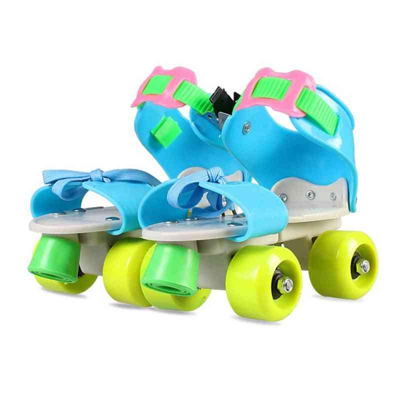 Children Roller Skates Double Row 4 Wheel Skating Shoes Adjustable Sliding Skates