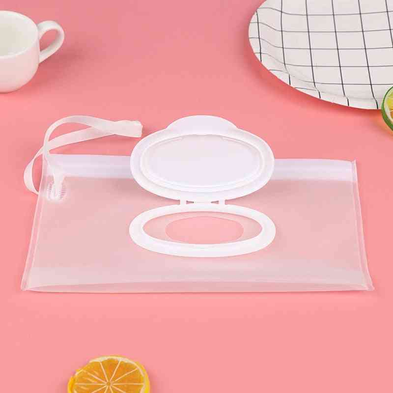 Light Weight Portable Cartoon Kids, Wet Wipes Clutch Carrying Bag Wet Paper Tissue