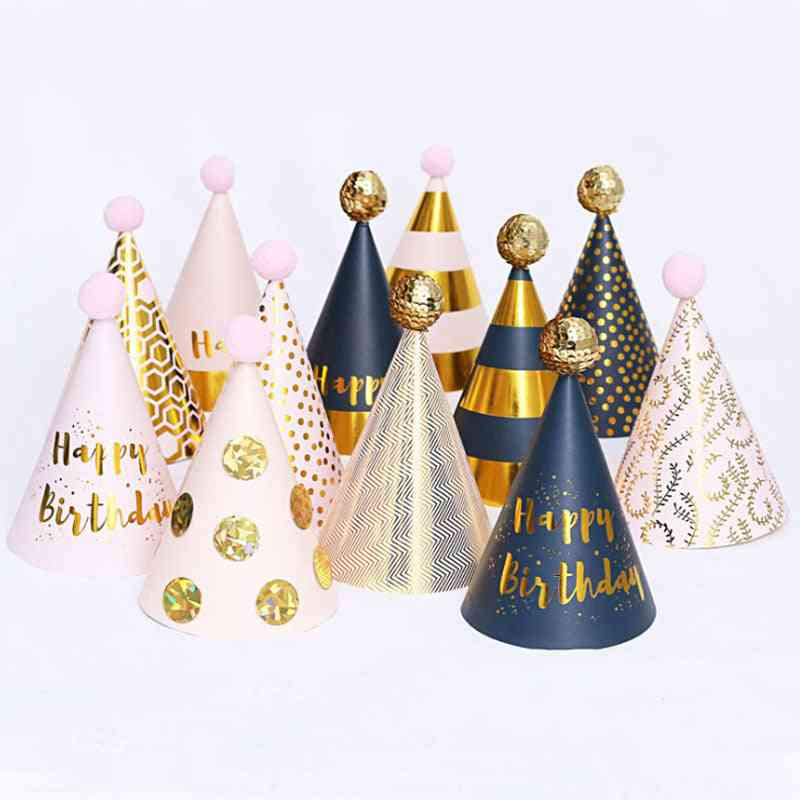 Birthday Party Paper Decorations Kids Hats