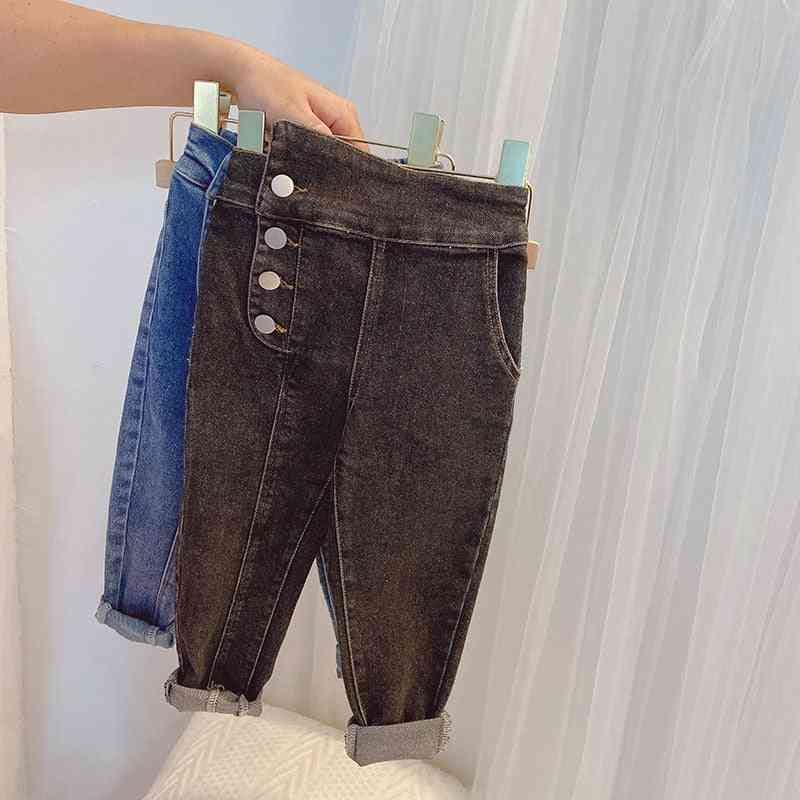 Baby Spring Autumn Denim Pants Girl Skinny Jeans Trousers