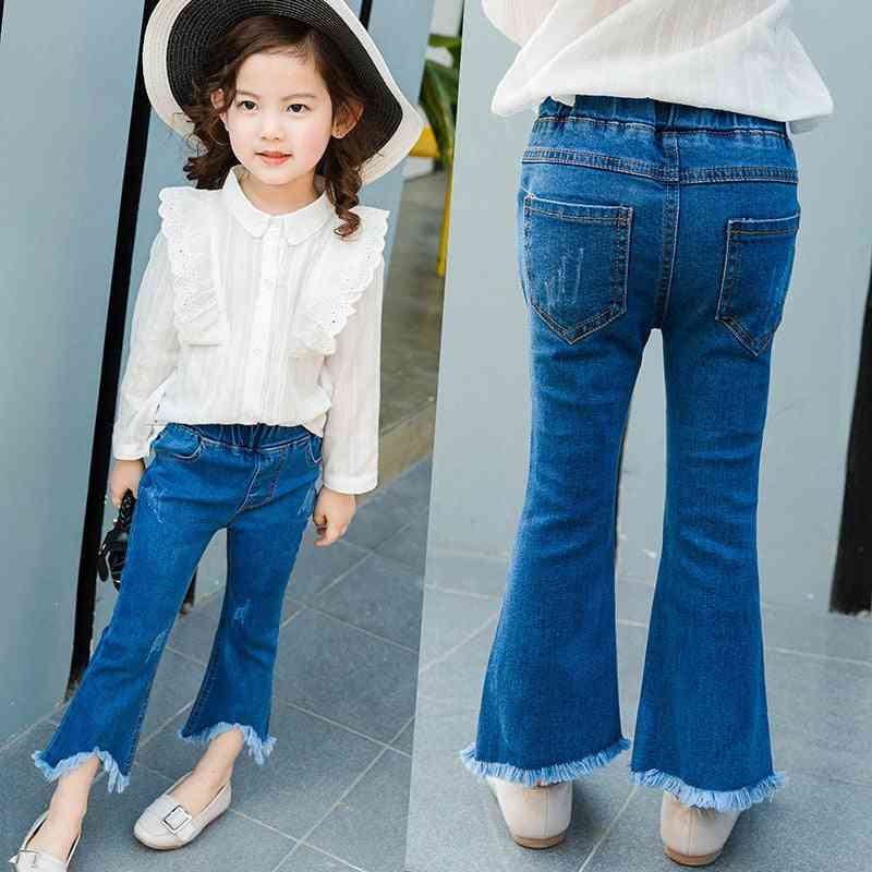 Spring Autumn 3-8y's Jeans Fashion Slim Pants, Baby Irregular Trousers
