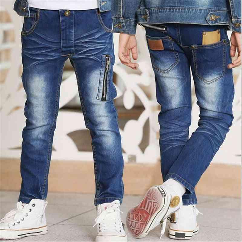 New Korean Version Fashion Handsome Zipper Elastic Waist Casual Slim Trousers