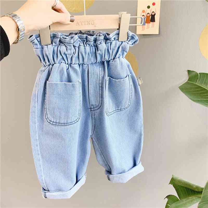 Children's Jeans Spring' High Waist Jeans Casual Pants