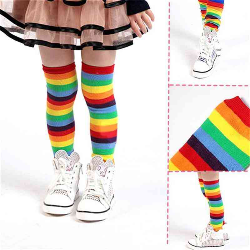 Winter Little Socks Leg Warmers Safety Protection Knee Pad (striped)