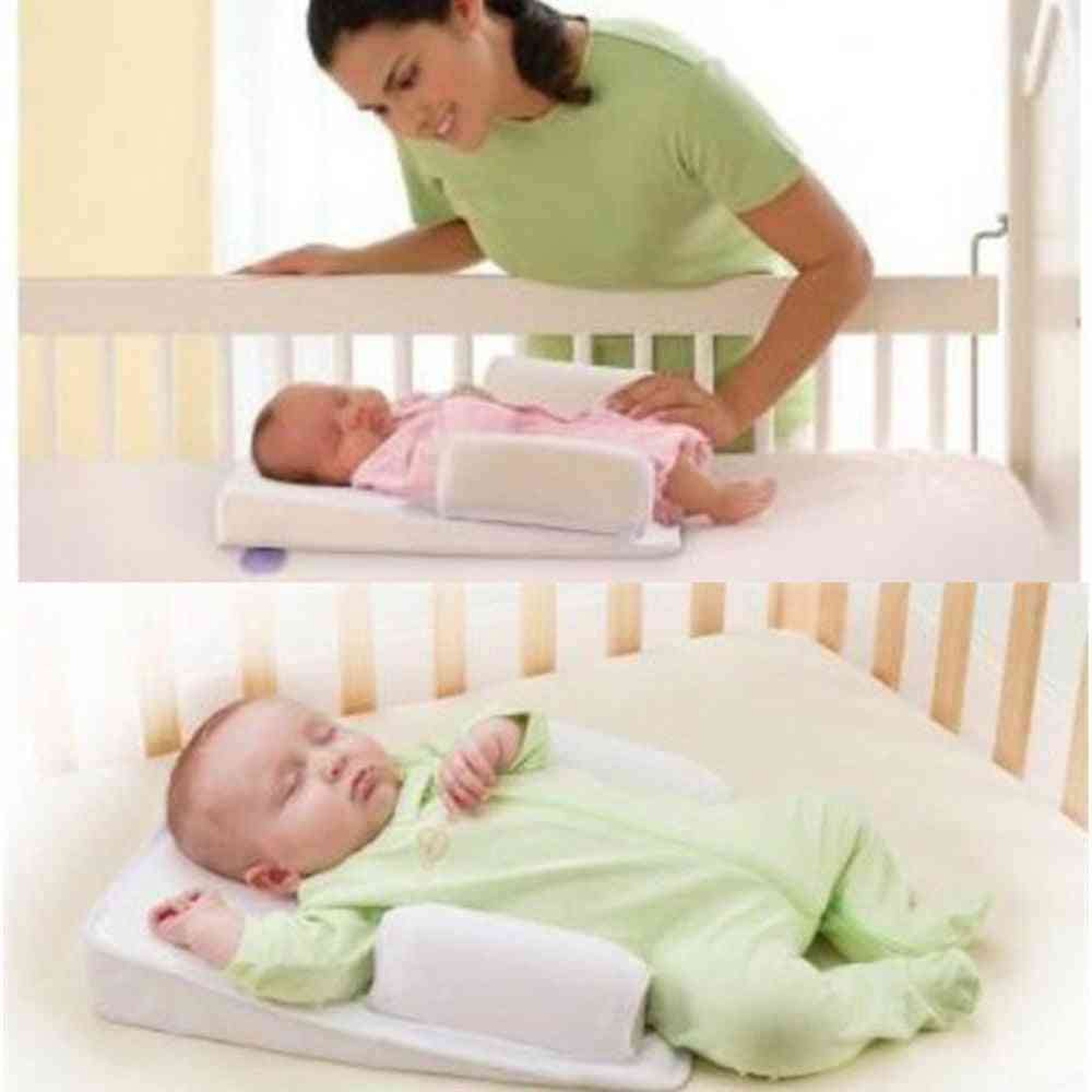 Anti Roll Sleep Positioners Baby Safe Infant Prevent Flat Head Shape Pillow
