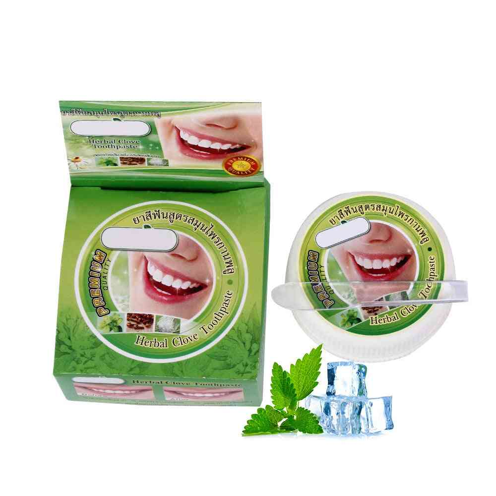 Herb Mint Tooth Whitening, Natural Herbal Tooth Paste, Remove Stain, Antibacterial Allergic Gel