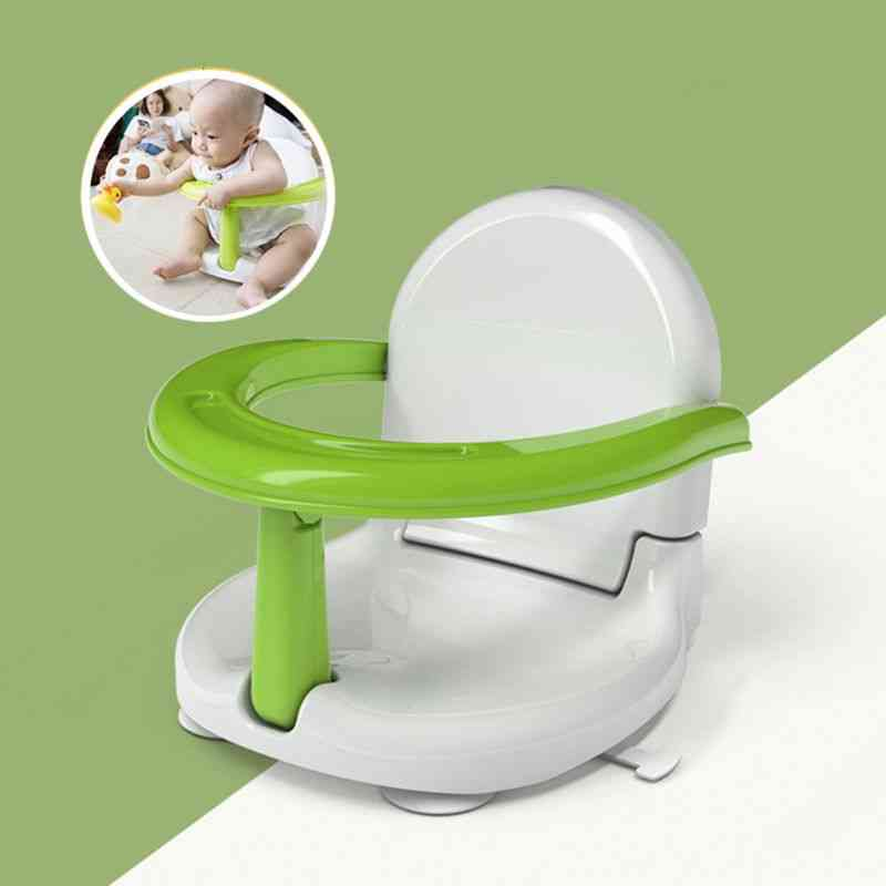 Bathtub Chair Foldable Baby Bath Seat With Backrest Support Anti-skid Safety Suction Cup