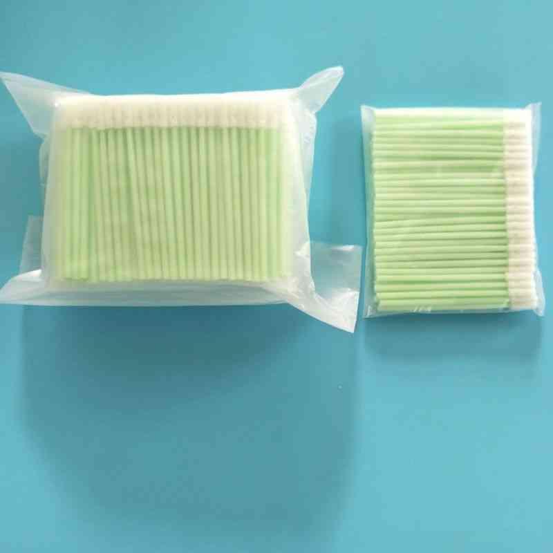 100pcs Small Round Head Foam Tip Cleaning Swab Free Sticks, For Print Camera Optical Gun