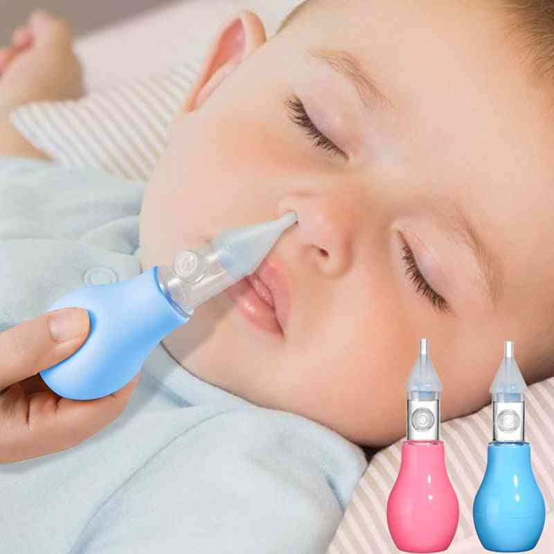 Infant Silicone Nasal Aspirator Pump Type Neonatal Cold Nasal Mucus Cleaner
