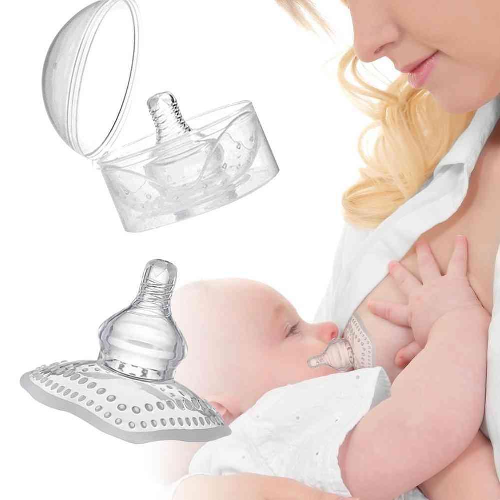 Pregnant Women Lactation Retraction Feeding Auxiliary Nipple (transparent)