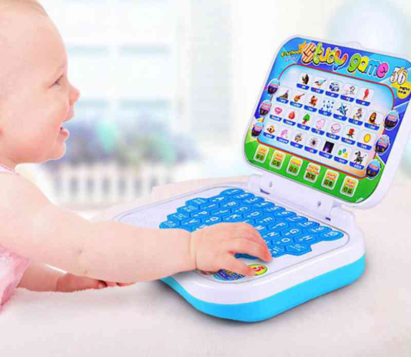 Baby, Kids, Pre School Educational Learning Machine, Study Toy Laptop With Mouse, Computer Tablet, English Learning