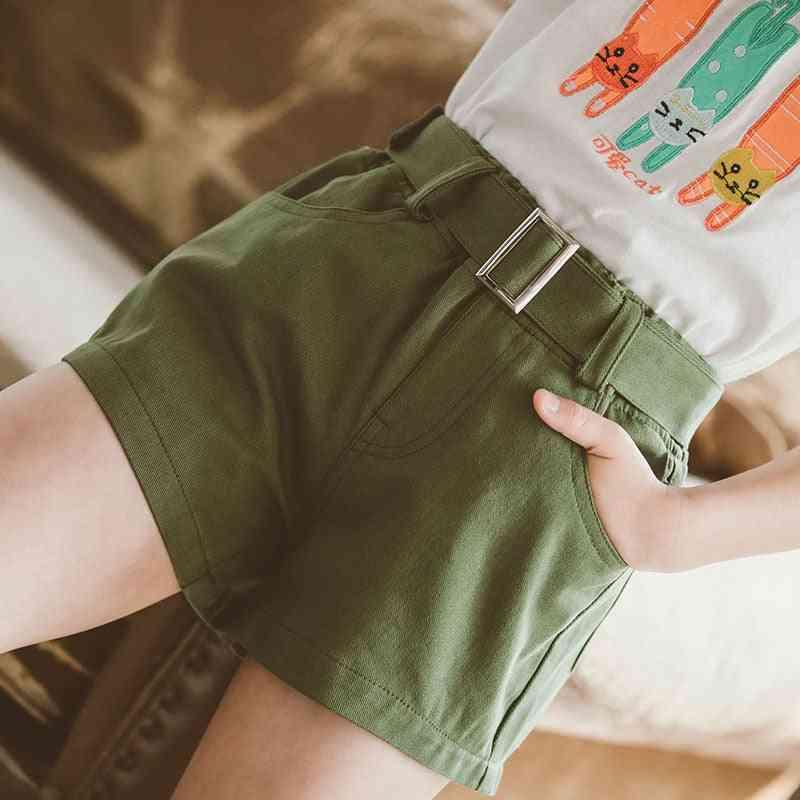Teenage Cotton Shorts With Belt